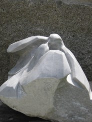 marbre, gris bleuté de Savoie 49x38x30