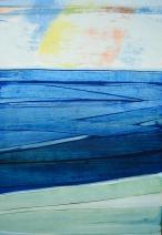 Courant de marée Huile sur bois 70x100