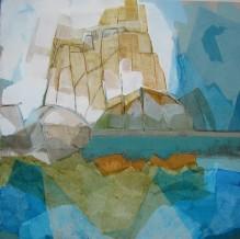 Reflet huile sur toile 80x80