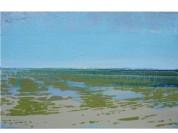Marée basse II huile sur toile 30x50